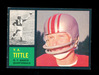 1962 Topps Football Card #102 Hall of Famer Y.A. Tittle New York Giants.  E