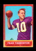 1963 Topps Football Card #98 Hall of Famer Fran Tarkenton Minnesota Vikings