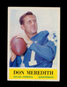 1964 Philadelphia Football Card #51 Don Meredith Dallas Cowboys. EX to EX-M