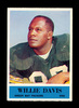 1964 Philadelphia ROOKIE Football Card #72 Rookie Hall of Famer Willie Davi