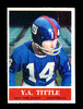 1964 Philadelphia Football Card #124 Hall of Famer Y.A. Tittle New York Gia