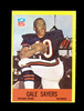 1967 Philadelphia Football Card #35 Hall of Famer Gale Sayers Chicago Bears