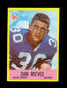 1967 Philadelphia ROOKIE Football Card #58 Rookie Hall of Famer Dan Reeves