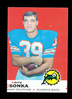 1969 Topps ROOKIE Football Card #120 Rookie Hall of Famer Larry Csonka Miam