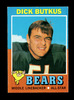 1971 Topps Football Card #25 Hall of Famer Dick Butkus Chicago Bears. EX to