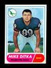 1968 Topps Football Card #162 Hall of Famer Mike Ditka Philadelphia Eagles.