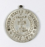 1776-1976 Bicentennial Concord Minute-Man Medal/Pendant  (Cradle of Liberty