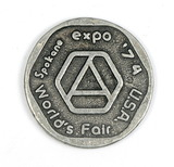 1974 Worlds Fair Expo in Spokane,  U.S. Pavilion Token.   1-1/2