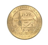 1839-1939 Golden Gate International Exposition Centennial Token. The Golden