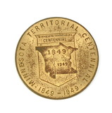 1849-1949 Minnesota Territorial Centennial Coin/Token. The Great Seal of Mi