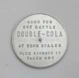 Vintage Aluminum Double - Cola Spinner Coin/Token.