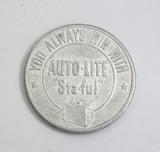 Vintage Auto-Lite Sta-Ful Coin/Token.