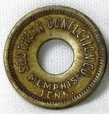 Vintage Southern Confection Co. Memphis Tenn. Coin/Token. Blank on Reverse.