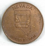Vintage Nevada Hoover Dam Coin/Token. Nevada The Silver & 36th State.  1