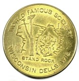 Wisconsin Dells Wisc. Stand Rock World Famous Scenery Coin/Token.