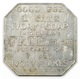 Vintage Procter & Gamble Ivory Soap/Ivory Flake 182-AF Square Aluminum Coin