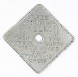 Vintage Kirks Flake Soap Square Aluminum Coin/Token. Free 10-Cent pkge CHER