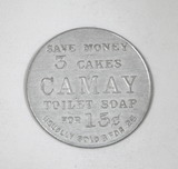 Vintage Procter & Gamble Camay Toilet Soap 151-BF Aluminum Coin/Token.  Sav