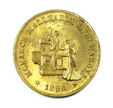 1896-1946 Monarch Ranges Golden Jubilee Coin/Token. Monarch Malleable Iron