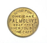 Vintage Palmolive Soap Co. P-1011 Coin/Token. Good For One Cake PALMOLIVE S
