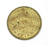 Vintage Wild Rose Mercantile Co. Wild Rose Wis. Coin/Token. Good For $1.00