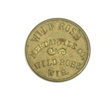 Vintage Wild Rose Mercantile Co. Wild Rose Wis. Coin/Token. Good For $0.10