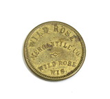 Vintage Wild Rose Mercantile Co. Wild Rose Wis. Coin/Token. Good For $0.05
