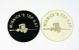 (2) Minnick's Top Hat Plastic Coin/Tokens. Good For One Hiball and Good For