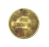 Vintage Magnet Bar 519 Main St. Oshkosh, Wis. Coin/Token. Good For $0.10 in
