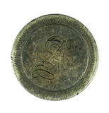 Vintage Love Token Made From 1854 Seated Silver Dime. Engraving Looks Like