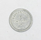 Vintage Dave & Evelyn's Farmers Inn Darien, Wisc. Coin/Token. Good For $0.0