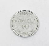 Vintage Roberts Friendly Inn Monroe, WI. Coin/Token. Good For One Drink. TC