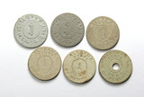 (6) Vintage Alabama Tax Coin/Tokens. Dept. of Revenues. Alabama first issue