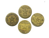 (4) Vintage Alabama Tax Coin/Tokens. Dept. of Revenues. Alabama first issue