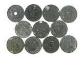 (11) Vintage Missouri SalesTax Coin/Tokens. TC-89079 7/8