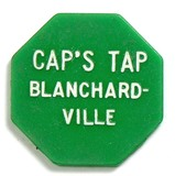 Hexagon Plastic CAP'S TAP Blanchardville. Coin/Token. Good For $0.10 in Tra