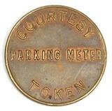 Vintage Courtesy Parking Meter Token. Good For $0.05 In Parking Meter City