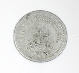 Vintage W.F. Massuere Co. Arcadia, Wis. Coin/Token. Good for $1.00 In Merch