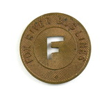 Vintage Fox River Bus Lines Token. Good For One Fare, Appleton,Wis.   Atwoo