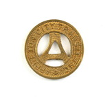 Vintage Appleton Transit Inc.Token. Good For One Fare. Appleton, Wis.  Atwo