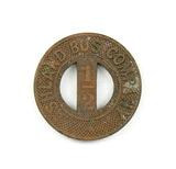 Vintage Ashland Bus Company Token. Day School Ticket 1/2  Ashland, Wis. Atw