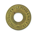 Vintage Consolidated Water Power & Paper Co. Token. Good For One Employee B