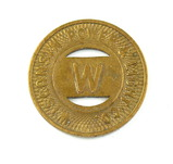 Vintage Wisconsin Power & Light Co. Token. Good For One Fare Fond D Lac, Wi