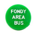 Vintage Plastic Fondy Area Bus Token. Student Fare Fond Du Lac, Wis. Atwood