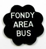 Vintage Plastic Fondy Area Bus Token. North Fondy Fare Fond Du Lac, Wis. At