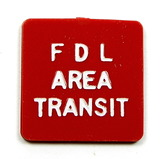 Vintage Plastic F D L Area Transit Token. Adult Fare Fond Du Lac, Wis. Atwo