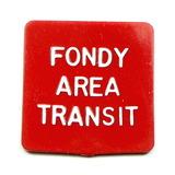 Vintage Plastic Fondy Area Transit Token. Adult Fare Fond Du Lac, Wis. Atwo