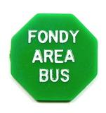 Vintage Plastic Hexagon Fondy Area Bus Token. Student Fare Fond Du Lac, Wis