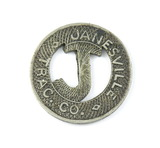 Vintage Janesville Trac Co. Token. Good For One City Fare Janesville, Wis.