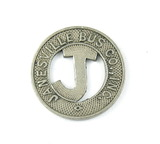Vintage Janesville Bus Co. Inc. Token. Good For One City Fare Janesville, W